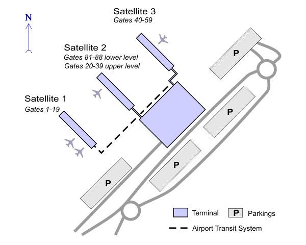 Схема аэропорта Стэнстэд