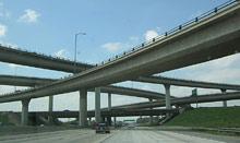 А монотонность дороги - лучшее...  Транспортные развязки - это наше прошлое, настоящее и, конечно, будущее.