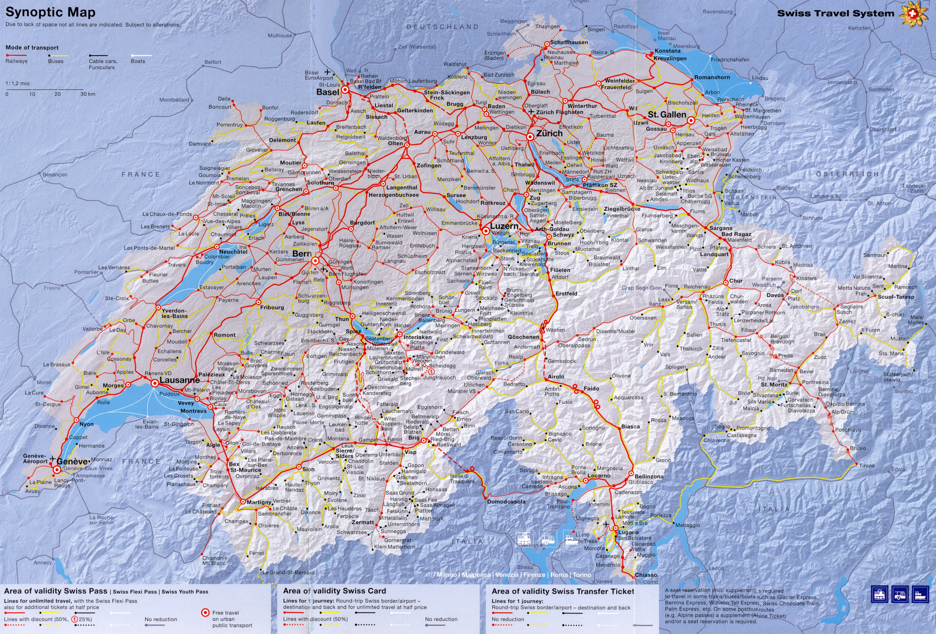 Travel System – Swiss Travel System Map