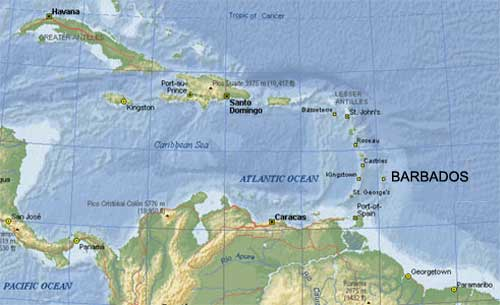 a history and geography of barbados country