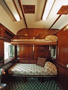 """Схема купе Pullman Suite, поезда компании  """"Rovos Rail """" ."""